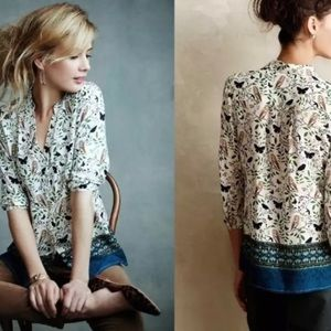 Maeve woodland walkabout owl butterfly top sz 14